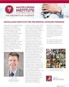McCullough Institute Newsletter